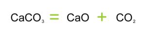 CaCO3 = CaO + CO2